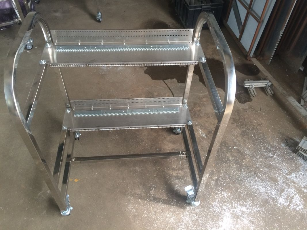 Stainless Steel SMT Feeder Storage Cart For JUKI Pick And Place Equipment