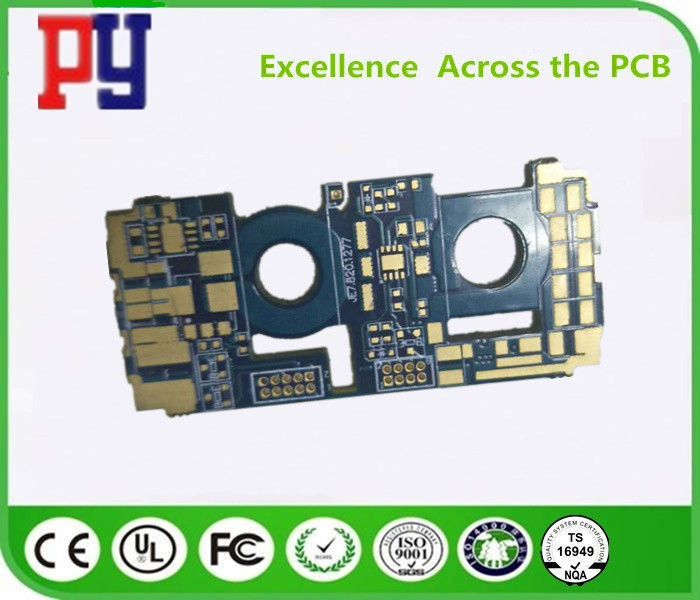 Power Supply 6 Layers FR4 PCB Board Blue Solder Mask 2.0mm Board Thickness