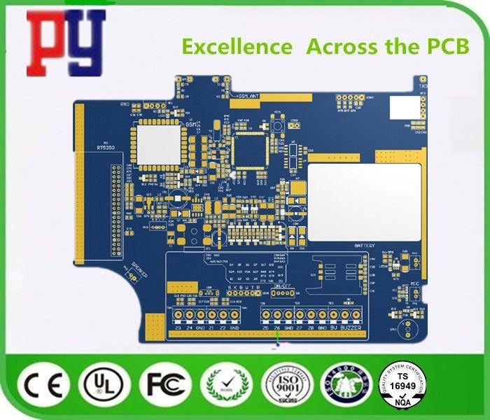 Blue Two Layer Quick Turn Pcb Prototypes , FR4 Circuit Board 2 Oz Copper Thickness