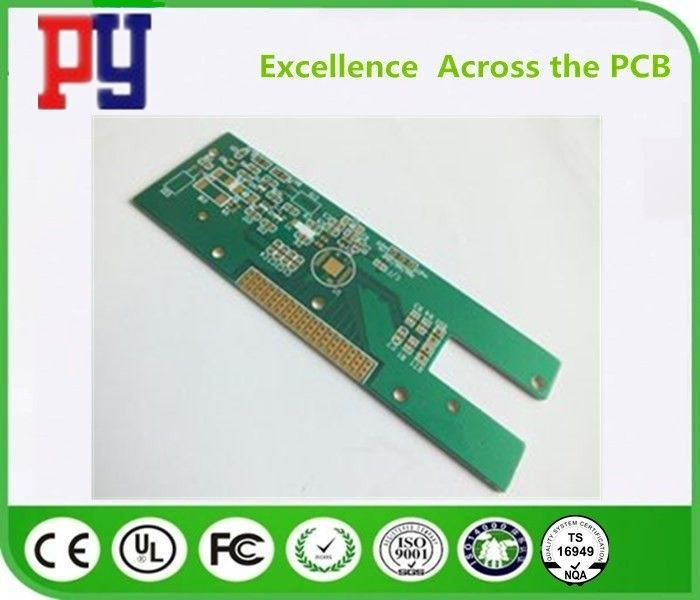 Gold Plating Single Sided PCB Board Fr4 Base Material 2oz Copper 1.6mm Thickness