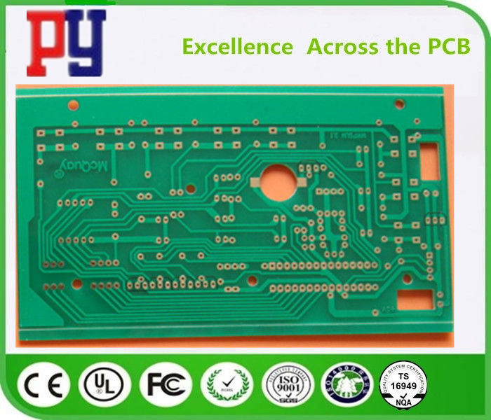 Immersion Gold Copper Clad Single Sided Printed Circuit Board For Controller Custom