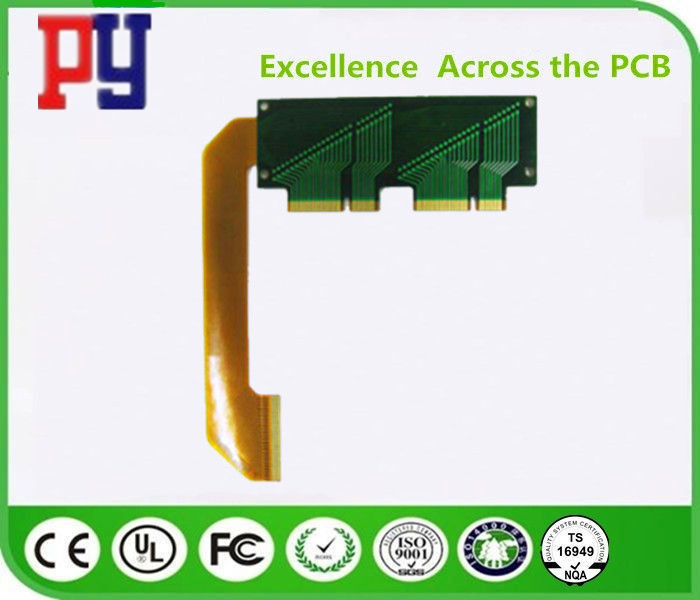 Double Sided Rigid Flex PCB Immersion Gold Impedance 1.0mm Surface Finish ENIG