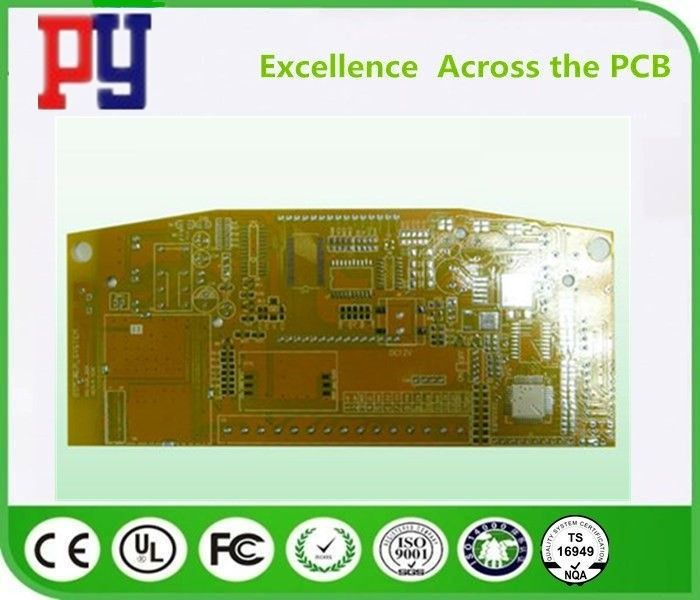 Yellow Solder Mask FR4 PCB Board 2 Layer Rigid Double Side 1-4oz Copper Thickness
