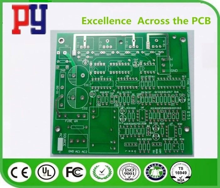 Printed Multilayer PCB Circuit Board 4 Layer Fr4 Green Solder Mask Color 1.6mm Board 1OZ HASL
